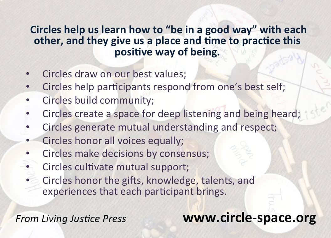 Restorative Justice Peacemaking Circles