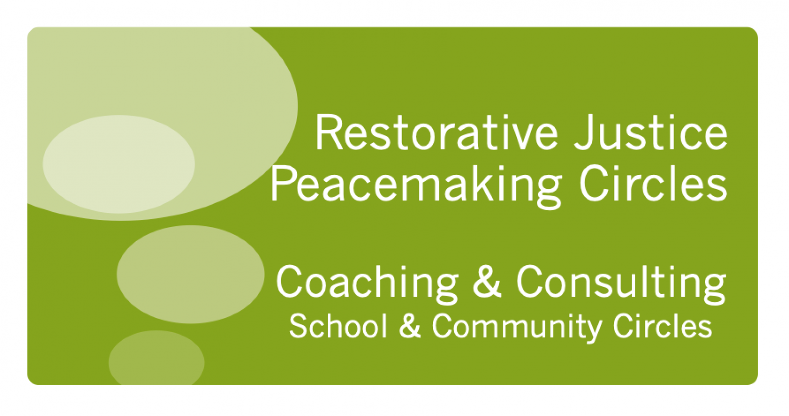 Peacemaking Circle Coaching Introduction